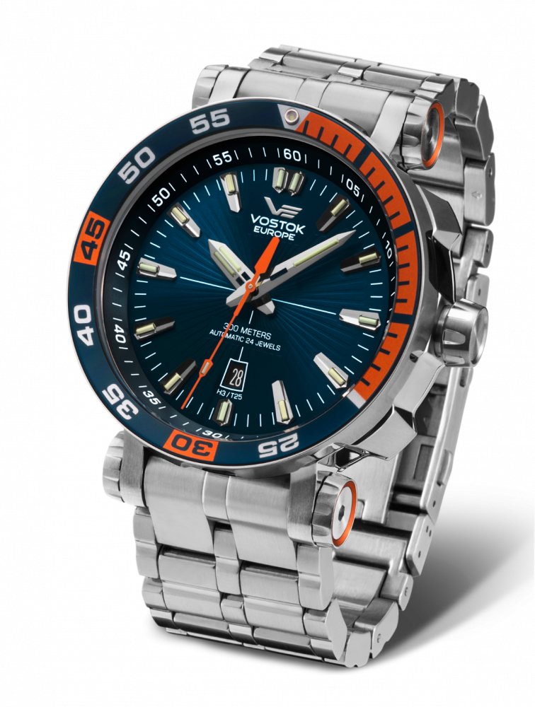 pánske hodinky Vostok-Europe ENERGIA Rocket Stainless steel line NH35/575A279B